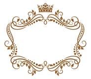 Retro kader met koninklijke kroon royalty-vrije illustratie