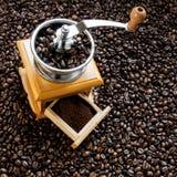Retro kaffe mal Royaltyfri Foto