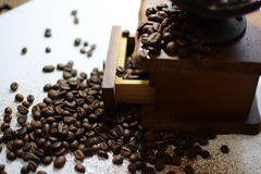 Retro kaffe mal Royaltyfri Bild