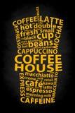 Retro kaffeannonsbakgrund Arkivfoton
