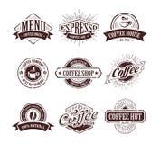 Retro- Kaffee-Stempel Stockfoto