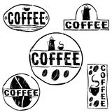 Retro- Kaffeeaufkleber der Weinlese lizenzfreie abbildung
