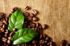 Retro- Kaffeebohnehintergrund Lizenzfreie Stockbilder