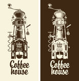 Retro- Kaffeehaus Stockfoto