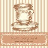 Retro- Kaffeehintergrund stock abbildung