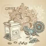 Retro- Kaffeehintergrund vektor abbildung