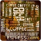 Retro- Kaffeezeichen, Stockfoto