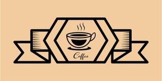 Retro kaffesymbolstappning Royaltyfria Bilder