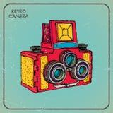 Retro- Kamera Lizenzfreies Stockbild