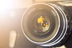 Retro kamera Arkivbild