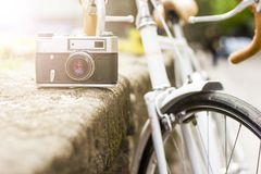 Retro kamera Arkivfoton