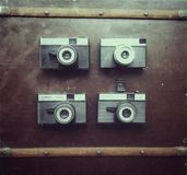 Retro kamera Arkivbilder