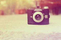 Retro- Kamera der Weinlese mit Farbfiltern Stockbild