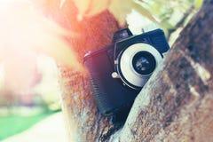 Retro kamera för tappning Arkivfoto