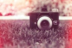 Retro kamera för tappning Arkivbilder