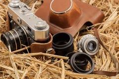 retro Kamera für den Fotografen Lizenzfreie Stockbilder