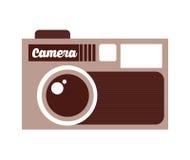 Retro- Kamera lokalisiertes Ikonendesign Stockfotografie