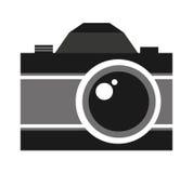 Retro- Kamera lokalisiertes Ikonendesign Lizenzfreie Stockbilder