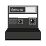 Retro- Kamera lokalisiertes Ikonendesign Lizenzfreie Stockfotografie
