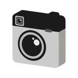 Retro- Kamera lokalisiertes Ikonendesign Stockfoto
