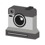 Retro- Kamera lokalisiertes Ikonendesign Stockbild