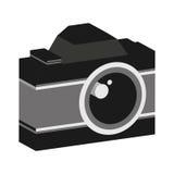 Retro- Kamera lokalisiertes Ikonendesign Lizenzfreie Stockfotos