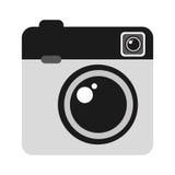 Retro- Kamera lokalisiertes Ikonendesign Stockfotos