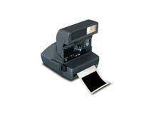 Retro- Kamera mit unbelegtem Bilderrahmen Lizenzfreie Stockfotografie