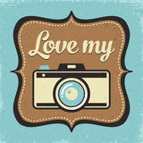 Retro kamera plakat ilustracja wektor