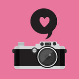 Retro kamerasymbol Arkivbild