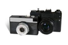 retro kameror Arkivfoton