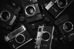 Retro kameror Arkivbilder
