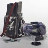 retro kameror Royaltyfria Bilder