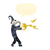 Retro- Karikaturzauberer-Castingbann Stockbilder