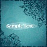 Retro karta z doodle tła miejsca teksta rocznik Może używać jako zaproszenie lub karta Zdjęcie Stock