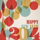 Retro kartka bożonarodzeniowa z boże narodzenie dekoracjami Fotografia Stock