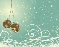 Retro kartka bożonarodzeniowa ilustracja wektor