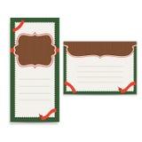 Retro kartka z pozdrowieniami szablon Zdjęcie Stock