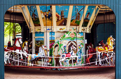 Retro karusell Royaltyfria Bilder