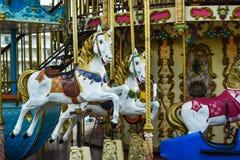 retro karusell Arkivbild