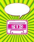 Retro kasety ulotka fotografia stock