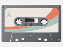 Retro kassett för gammal skola royaltyfri illustrationer