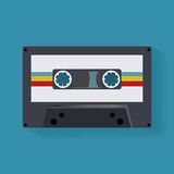 Retro- Kassetten-Musik-Aufzeichnungs-Ikonen-Illustrations-Vektor Stockfoto