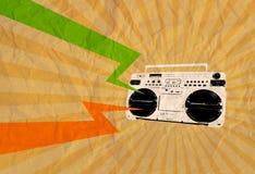 Retro kassettreklamblad 04 Arkivfoto