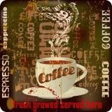 Retro kawa znak, Fotografia Stock