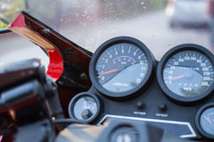 Retro Kawasaki GPZ Motorcycle photographed outdoors. Legendary bike from movie Top Gun. Royalty Free Stock Photo