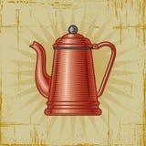 retro kawowy garnek Zdjęcia Stock