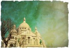 Retro kerk van stijl sacre-Coeur Stock Foto