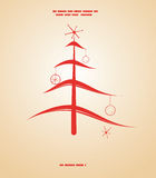 Retro Kerstmisillustratie royalty-vrije illustratie
