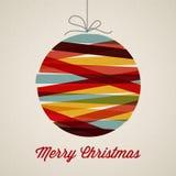 Retro Kerstmiskaart Stock Foto's